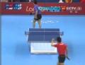 奥运视频-王皓快速回球擦边 男乒团体1/4决赛