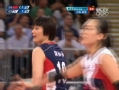 奥运视频-张磊单人拦网扳平 女排中国VS韩国