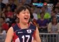 奥运视频-杨孝珍跃起拦网得分 女排中国VS韩国