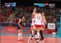 奥运视频-张磊跃起暴扣斜角 女排中国VS韩国