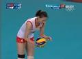 奥运视频-惠若琪发球直接得分 女排中国VS韩国