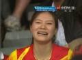 奥运视频-林丹网前轻吊失误 谢杏芳场外显焦急