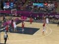 奥运视频-陈楠背转身巧上反篮 女篮中国VS美国