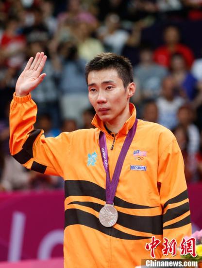 当地时间8月5日,2012年伦敦奥运羽毛球男子单打决赛,林丹苦战三局战胜李宗伟夺冠。图为李宗伟。记者 盛佳鹏 摄