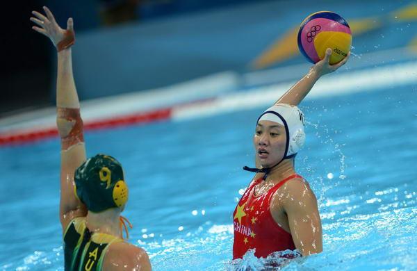 奥运图:女水憾负澳大利亚 中国队选手马欢欢