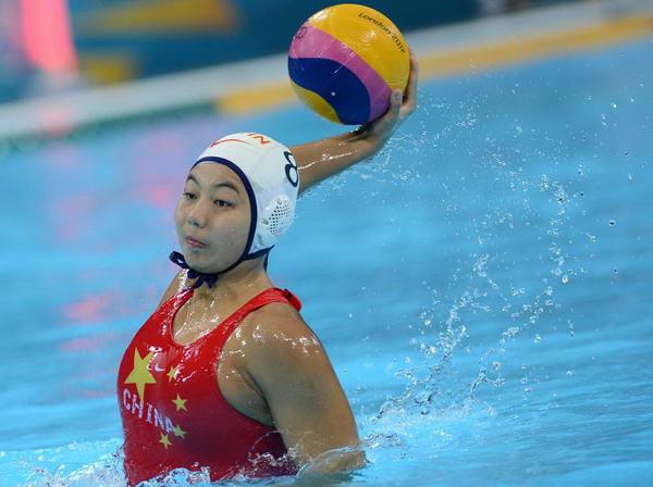 奥运图:女水憾负澳大利亚 中国队员进攻