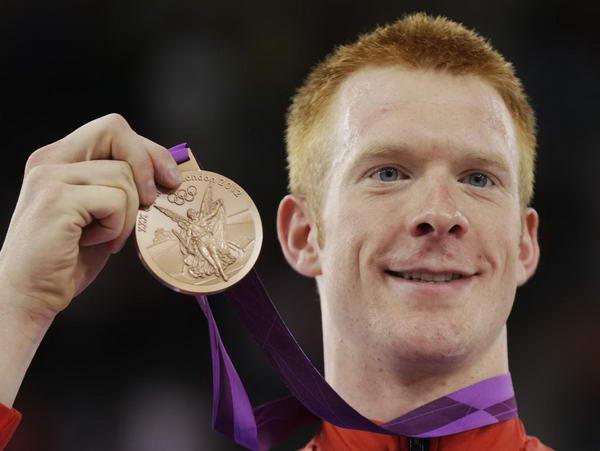 奥运图:自行车全能赛汉森夺冠 英国选手获亚军