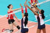 奥运图:女排阿尔及利亚负多米尼加 拦网
