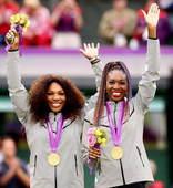 奥运图:网球女双威廉姆斯姐妹夺冠 大小威