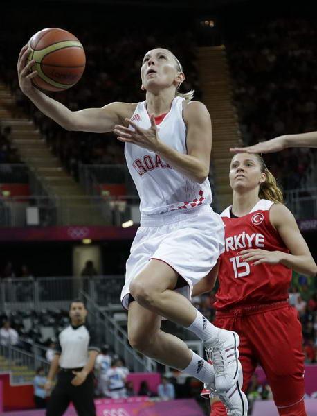 奥运图:土耳其女篮晋级八强 上篮