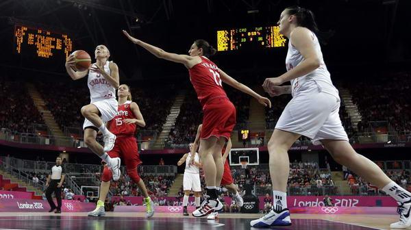 奥运图:土耳其女篮晋级八强 突破上篮