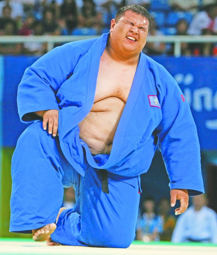 关岛柔道运动员小里卡多・布拉斯