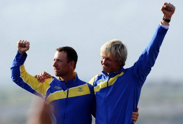 奥运图:帆船龙骨艇瑞典组合夺冠 开心不已
