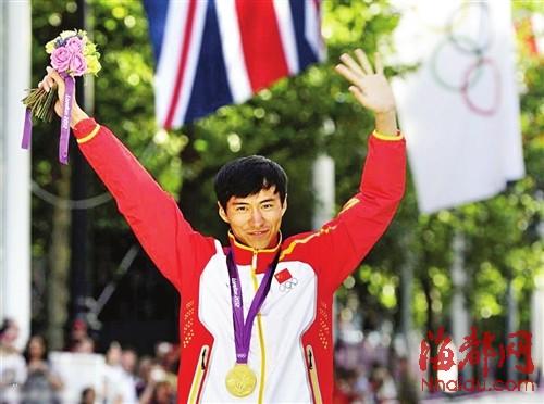 伦敦奥运会男子二十公里竞走项目,陈定夺冠