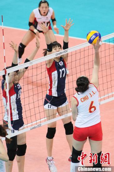 中韩女排携手晋级引质疑 俞觉敏坚称不打默契球