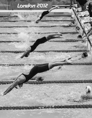 中国游泳选手在伦敦奥运会上表现优异。 新华社发