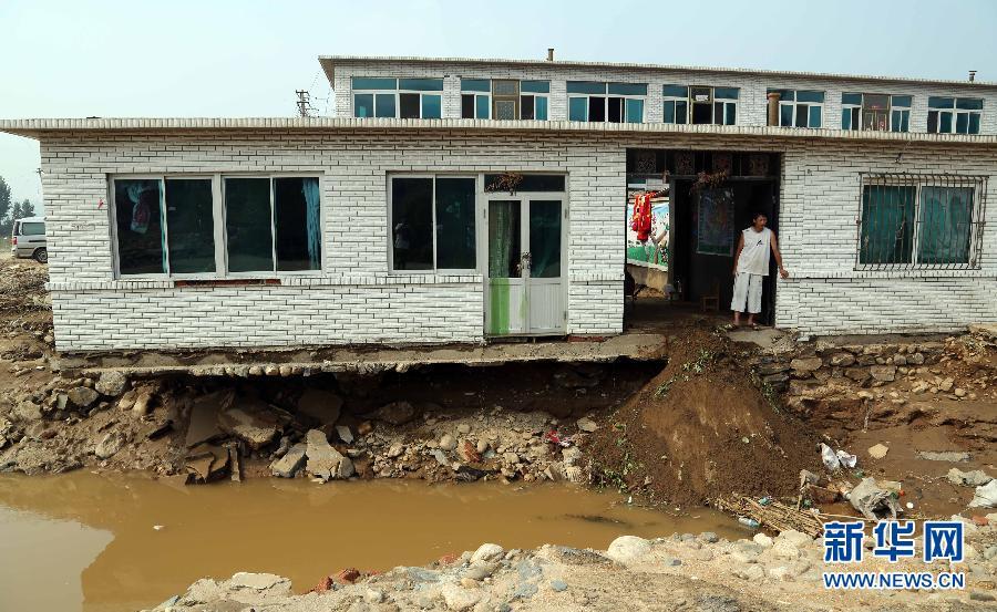 辽宁盖州部分乡镇洪灾损失严重(组图)