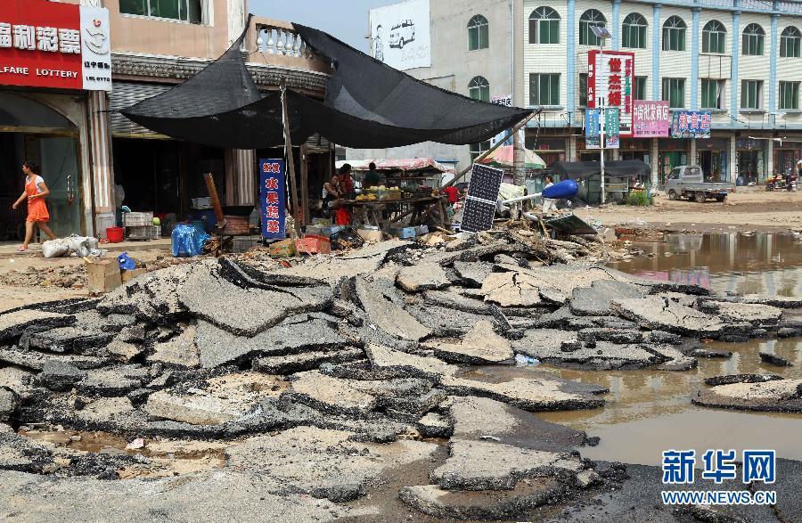 辽宁盖州部分乡镇洪灾损失严重(高清组图)