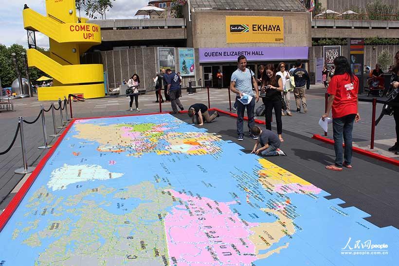 伦敦/逐渐成型的世界地图...