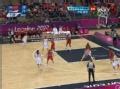 奥运视频-陈楠梦幻转身上空篮 女篮中国VS美国