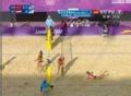 奥运视频-张希上网吊球 沙排女子中国VS奥地利