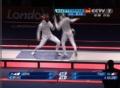 奥运视频-三宅亮刺击赢首分 花剑男子团体决赛