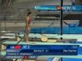 奥运视频-何姿向前翻腾完美入水 跳水女个3米板