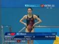 奥运视频-吴敏霞高质量反身转体 跳水女个3米板