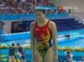奥运视频-何姿向前翻腾轻盈入水 跳水女个3米板