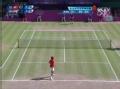 奥运视频-底线多拍相持 费德勒反拍切回球挂网