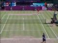 奥运视频-费德勒侧身抽直线 男网穆雷VS费德勒
