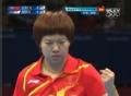 奥运视频-李晓霞突抽斜线 女乒团体中国VS韩国