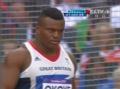 奥运视频-东道主选手投掷失误 铁饼险砸摄像记者