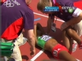 奥运视频-小迪巴巴腿部肌肉拉伤 痛苦倒地哭泣