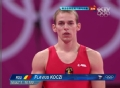 奥运视频-罗马尼亚选手落地不稳 男子跳马决赛
