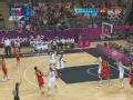 奥运视频-王仕鹏外线命中三分 男篮中国VS英国