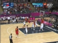 奥运视频-王治郅侧翼突破扣篮 男篮中国VS英国