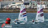 奥运图:帆板男子决赛 比赛中