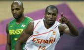 奥运图:西班牙男篮惨遭逆转 伊巴卡致意队友