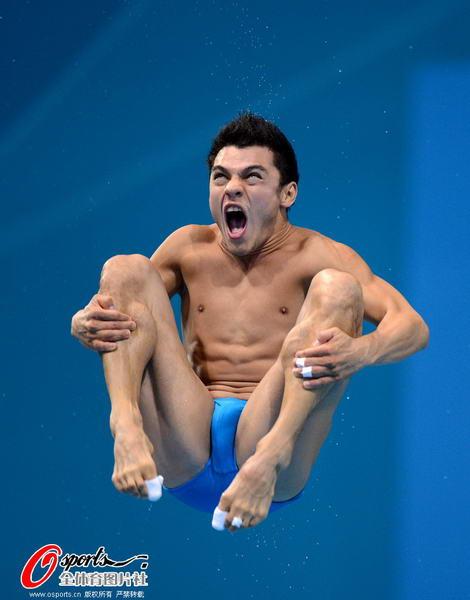12年伦敦奥运会跳水_2012年8月7日,2012年伦敦奥运会:跳水男子3米板半决赛 何冲榜首秦凯
