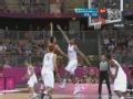 奥运视频-王治郅强突不惧夹击 勾手得分打成2+1