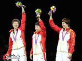 奥运图:中国女乒团体成功卫冕 丁宁笑容灿烂