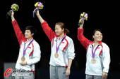 奥运图:中国女乒团体成功卫冕 新加坡获铜牌