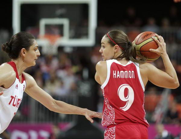 奥运图:俄罗斯女篮险胜土耳其 哈蒙持球攻