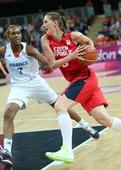 奥运图:女篮捷克迎战法国 捷克队球员霍拉科娃