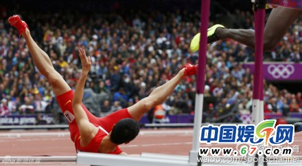 刘翔摔倒出局引娱乐圈众星关注