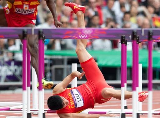 刘翔曾拍摄的某运动品牌广告。