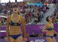 奥运视频-张希垫球助薛晨扣杀 女子沙排半决赛