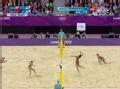 奥运视频-薛晨跟进重扣追身球 女子沙排半决赛