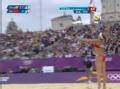 奥运视频-薛晨网前重扣直线球 女子沙排半决赛